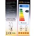 Λαμπτήρας LED 5watt 220 volt E14 κερί  3000K ζεστό (warm)