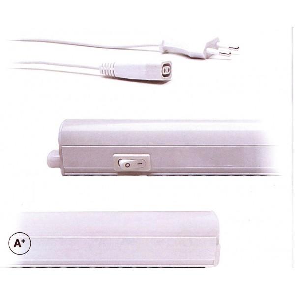 Φωτιστικό LED T5 12Watt Batten Slim λευκό ή ασημί