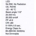 Φωτιστικό οροφής λευκό LED PANOS LED 3 40W πάνελ χωνευτό